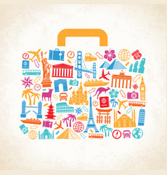 Travel luggage concept vector