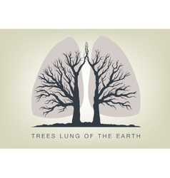 Trees - lungs of the planet ecology in nature vector