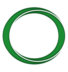 Two crescent moons of green color in a round vector