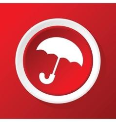Umbrella icon on red vector