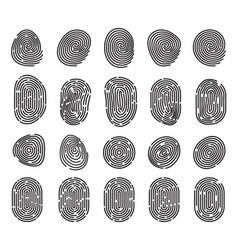 Unique fingerprint or thumbprint sign icon vector