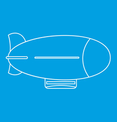 vintage airship icon outline style vector image