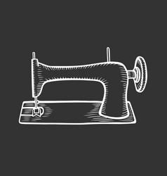 Vintage sewing machine vector