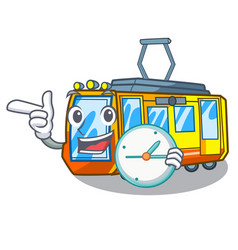 With clock electric train isolated with the vector