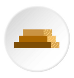 Wooden boards icon circle vector