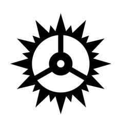 clock cogwheel vector image vector image