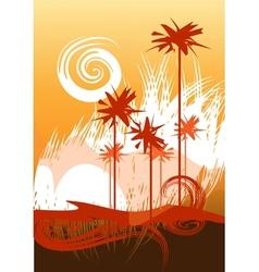Desert theme vector image vector image