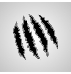 Monster claw marks vector image
