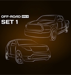 Off-Road Vehicle Silhouettes vector image