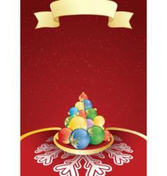 winter label tree vector image vector image