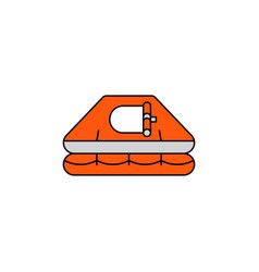 flat icon life raft vector image