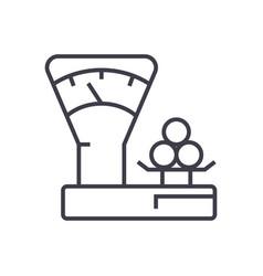 scales countershop line icon sign vector image vector image