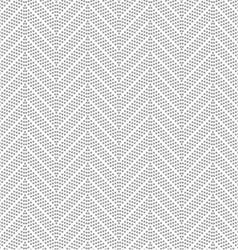 Slim gray dotted chevron vector image vector image