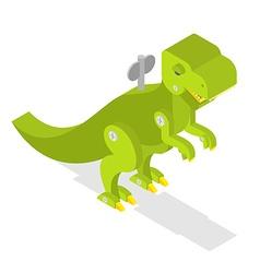 Toy dinosaur Tyrannosaurus Rex isometrics vector image