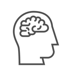 Brainstorm line icon vector image