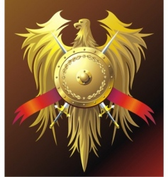 gold eagle vector image
