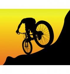 mountain biker vector image vector image