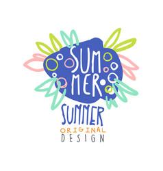 summer logo template original design colorful vector image vector image
