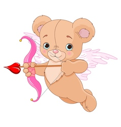 Valentine Cupid Bear vector image vector image