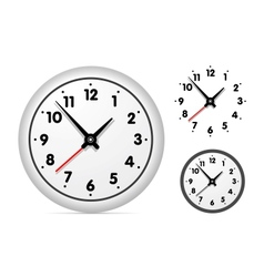 Clock on the white wall vector image vector image