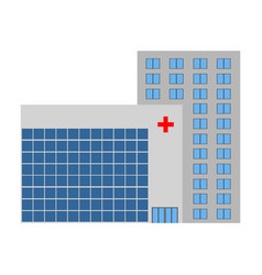front view of a hospital vector image