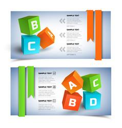 geometric infographic horizontal banners vector image vector image