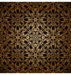 Gold lace pattern vector image vector image