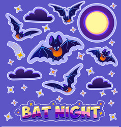 stickers for children in the form bats vector image