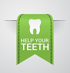 Ticket to help your teeth vector image