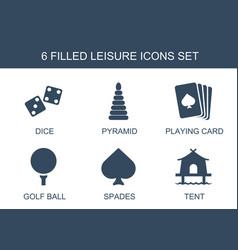 6 leisure icons vector