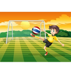 A female player kicking the ball from Thailand vector