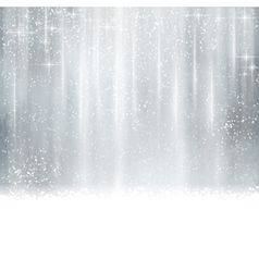 Abstract silver Christmas winter background vector image