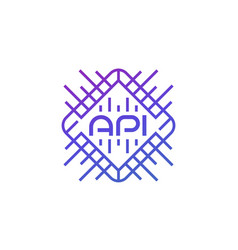 Api technology and software development icon vector