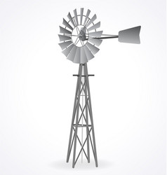 Australian metal windmill windpump vector