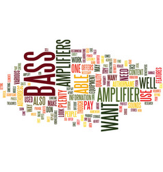 Bass fishintips text background word cloud concept vector