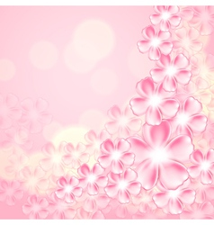 Beautiful pink flower background vector