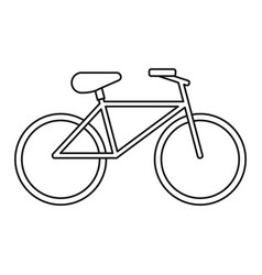 bicycle recreation transport thin line vector image