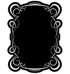 Black frame with elegant border vector