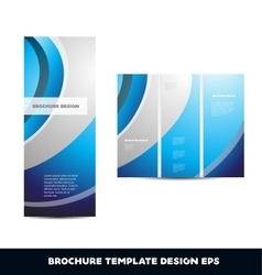 Blue silver grey brochure layout design template vector