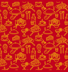 cafe food pattern vector image