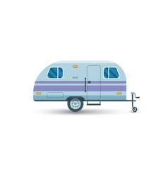 camper van flat icon vector image