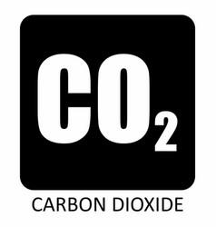Carbon dioxide symbol vector