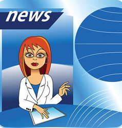 Cartoon new presenter vector