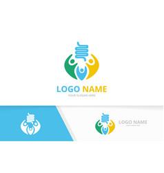 Colon and family logo combination unique vector