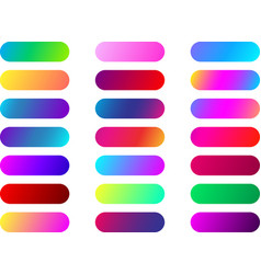 Color web button templates isolated on white vector