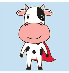Cow mascot cartoon vector