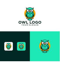 Creative owl logo design template vector