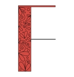 Decorative letter shape F vector image