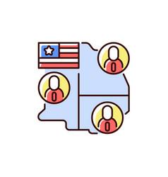 electoral college rgb color icon vector image