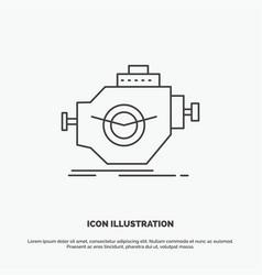 engine industry machine motor performance icon vector image
